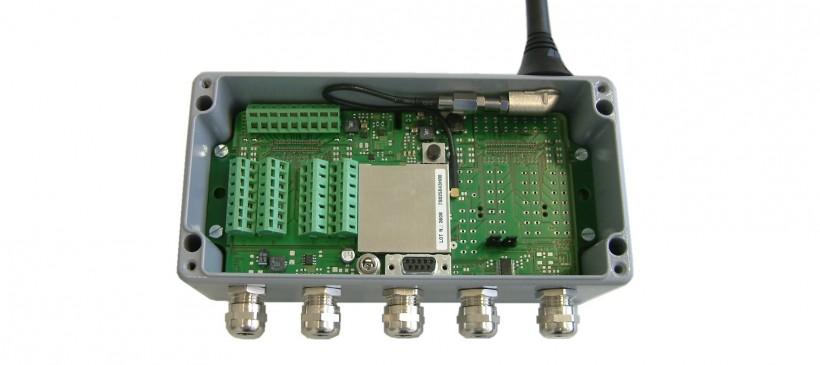Meetversterker met GSM modem